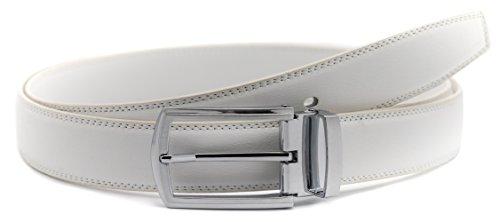 Men's Belt Leather Dress Casual Jeans Belt with Pin Buckle Vivid Colors-Trim to fit-35cm ()