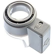 SE ML7527L Illuminated Adjustable-Focus Loupe with 8x Magnification