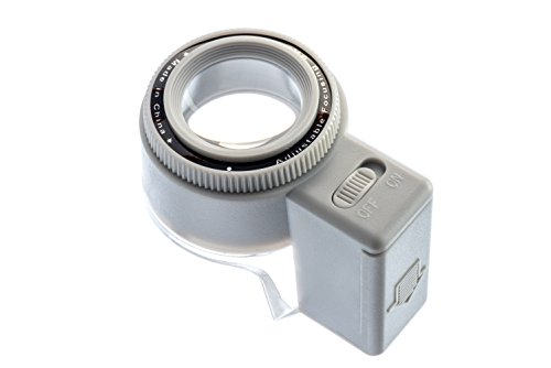(SE ML7527L Illuminated Adjustable-Focus Loupe with 8X Magnification )