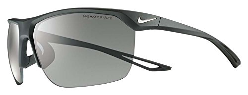 Nike Golf Trainer P Sunglasses, Matte Black/Silver Frame, Polarized Grey - Polarized Nike Sunglasses
