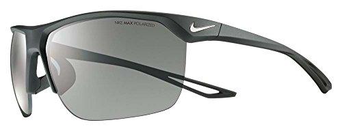 Nike Golf Trainer P Sunglasses, Matte Black/Silver Frame, Polarized Grey - Polarized Sunglasses Nike