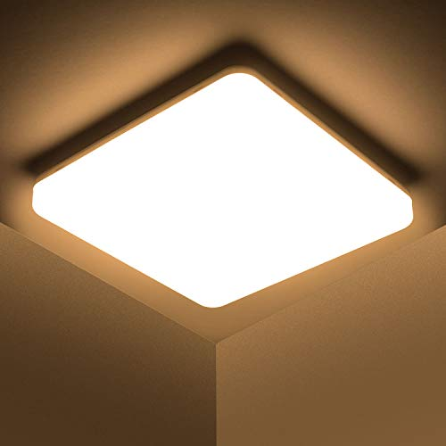 Kambo LED Lámpara de Techo 48W Moderna Cuadrada Plafon Techo Led Blanca Moderno Blanco Cálido 3000K Impermeable IP44…