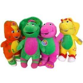 amazon com barney baby bop bj riff dinosaur 4 plush doll 15 inch