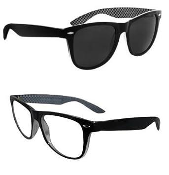 Paquete doble - unas gafas de sol (Unisex) pequeñas negras y ...