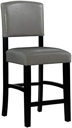 Linon Monaco 24 Wood Counter Stool in Dove Gray