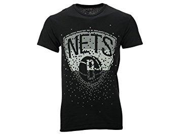 Brooklyn Nets Nba UNK negro hombres de Tetris camiseta, Negro