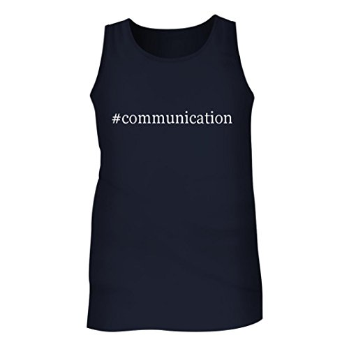Communication   Mens Hashtag Adult Tank Top  Navy  Large