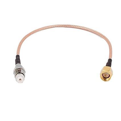 DealMux FME-K Feminino a SMA-J Masculino RG316 cabo coaxial Pigtail 20 centímetros