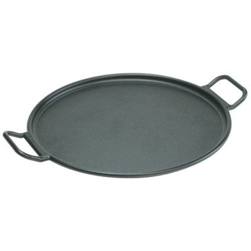 Lodge P14P3 Pro-Logic Cast Iron Pizza Pan, 14-inch, Black