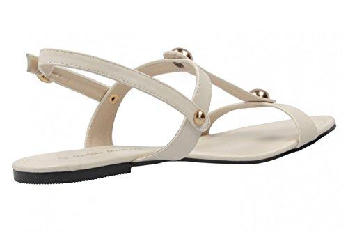 ANDRES MACHADO - Damen Sandalen - Beige Schuhe in Übergrößen