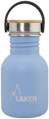 Senza BPA Chiusura Hermetico Bottiglia di Acqua Unisex Adulti /& Bambini Bocca Grande BPS Laken Borraccia Acciaio Inox con Tappo Acciaio e bamb/ù Ftalati