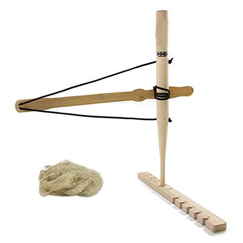 SXTL Primitive Technology Fire Starter Fire Bow Drill Kit Outdoor Adventure Educational Tool (Best Wood For Bow Drill Fire Starter)