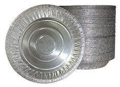 Pactiv Disposable 9-inch Aluminum Foil Tart/Pie Pans (Pack of 20) ()