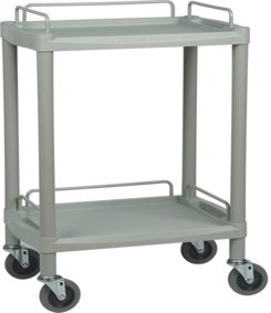 Two Shelf Durable ABS Utility Trolley Long JPM