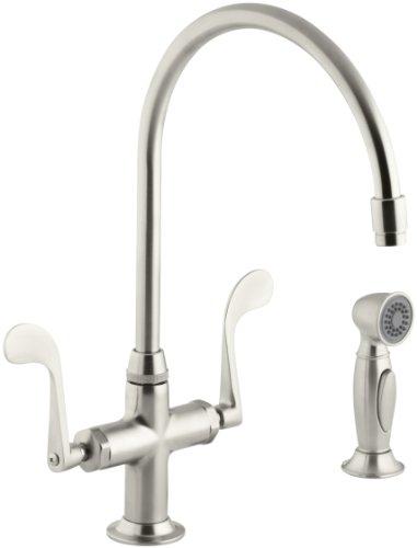 (KOHLER K-8763-BN Essex Kitchen Sink Faucet, Vibrant Brushed Nickel)