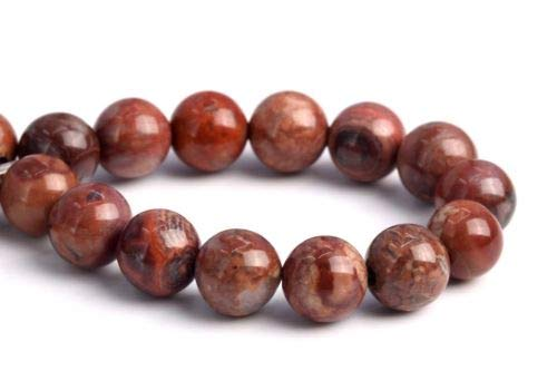 6mm Natural Mexico Pomegranate Jasper Grade Round Gemstone Loose Beads 7.5'' Crafting Key Chain Bracelet Necklace Jewelry Accessories Pendants ()
