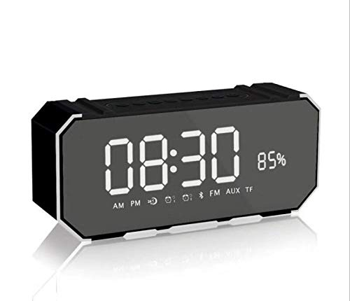 xingganglengyin Mirror Bluetooth Speaker Portable Multifunction Sound Blaster with Alarm Clock Insert U Disk Dual Speaker Subwoofer l Bluetooth Speaker by xingganglengyin (Image #4)