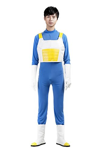 Mtxc Men's Dragon Ball Cosplay Costume Vegeta 3rd Kid Size Large Blue (Vegeta Costume For Kids)