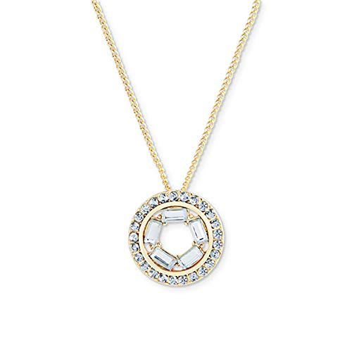Round Necklaces for Women, Golden Ladies Glittering Zircon Necklace, Jewelry Valentine's Day Women's Birthday Gift
