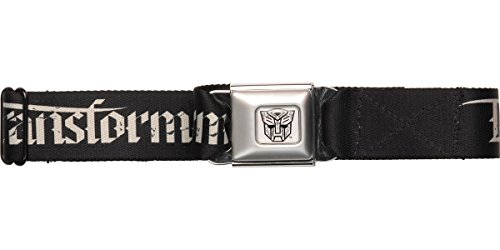 Buckle-Down Seatbelt Belt - TRANSFORMERS Old English/Autobot Black/Gray - 1.5