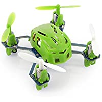 HUBSAN H111 Nano Q4 4-Channel 6 Axis Gyro Mini RC Quadcopter with 2.4Ghz Radio System Mode 2 RTF- Carton Case Green