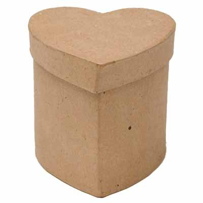 Paper Mache HEART BOX 3.5 x 3.5 x 3'' (144 Each) by DCC
