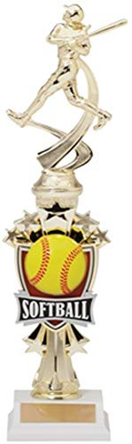 Express Medals 14 Inch ATR Series Softball Trophy Award with Engraved Personalized Plate 1-Pack ()
