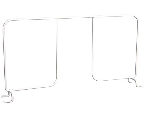 Organized Living freedomRail Shelf Divider for freedomRail Ventilated Shelves, 16-inch - White
