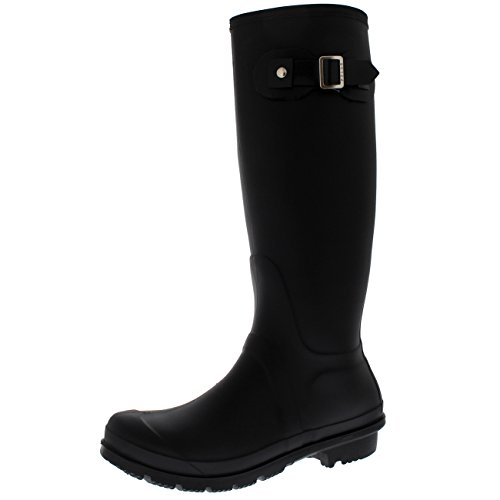 Polar Products Womens Snow Tall Waterproof Rain Muck Dog Walking Buckle Wellington Boot