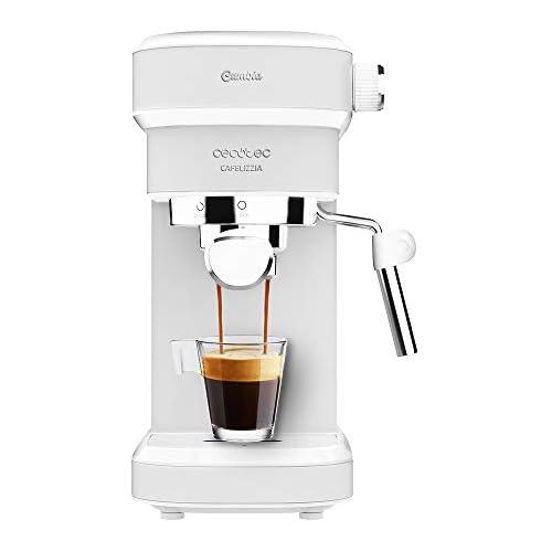 chollos oferta descuentos barato Cecotec Cafetera Espresso Cafelizzia 790 White Sistema de rápido Calentamiento 20 Bares Modo Auto para 1 y 2 cafés vaporizador orientable depósito 1 2 litros