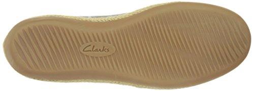 CLARKS Damen Danelly Alanza Flat Silbernes Leder