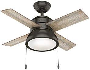 Hunter Fan Company Hunter 59387 Transitional 36 Ceiling Fan from Loki collection Dark finish, Noble Bronze