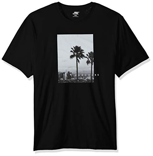 Skechers Men's Graphic Tee Shirt, Black Landscape, for sale  Delivered anywhere in Canada