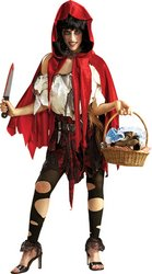 [Little Dead Riding Hood Costume - X-Large - Dress Size 16-22] (Halloween Little Dead Riding Hood Costume)