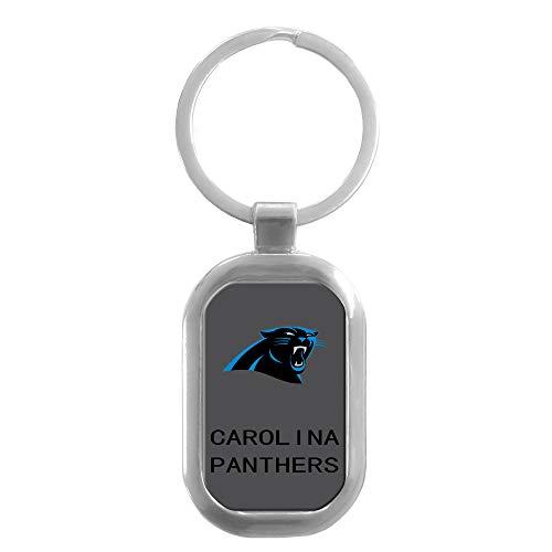 CHNNFC NFL Premium Domed Stainless Steel Keychain (Carolina -
