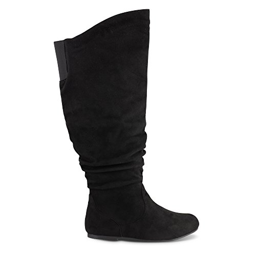 Twisted Shelly Wide-Calf Slouching Vegan-Friendly Boots