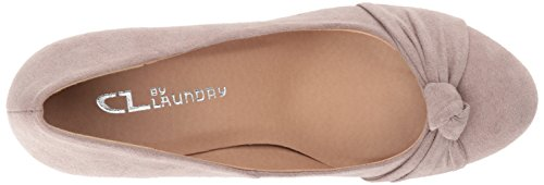 Taupe Pump Wedge Chinese CL Suede Pebble by Laundry Women's Nerin AqY8X8wa