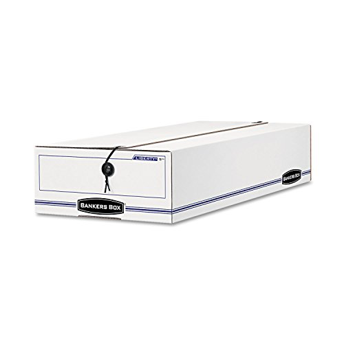 Fellowes Liberty Storage Box - Internal Dimension 4.62amp;quot; Height x 10.75amp;quot; Width x 23.25amp;quot; Depth x - External Dimensions 5amp;quot; Height x 11amp;quot; Width x 24amp;quot; Depth - Fiberboard, Plastic - White