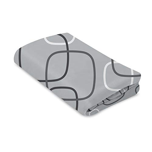 4moms breeze playard waterproof, machine washable playard sheets - soft, plush fabric - silver/white
