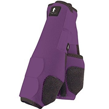 317XFMYuObL - Classic Rope Company Legacy System Front Splint Boots M Purple