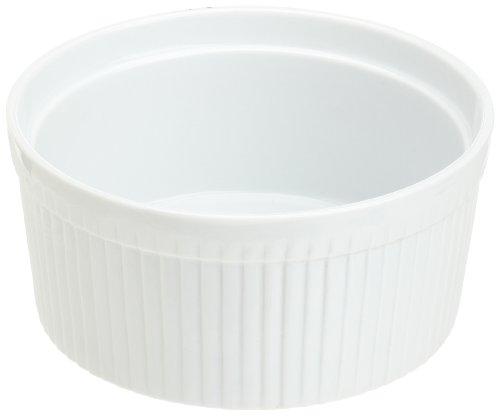 1/2 Qt Round Casserole - Kitchen Supply 8012 White Porcelain Soufflé 1.5-quart