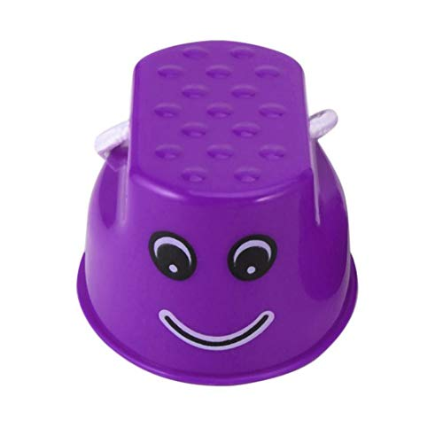 vbncvbfghfgh Funny Plastic Children Kids Outdoor Fun Walk Stilt Jump Smile Face Pattern Sports Balance Training Toy Best…