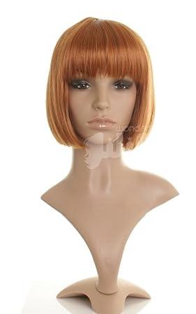 Short Ginger   Auburn   Strawberry Blonde   Red Straight Bob Wig - Ladies  Bob Wig eb5f7b075