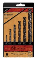 Montana Brand 6pc Brad Point Drill Set (Made in ()