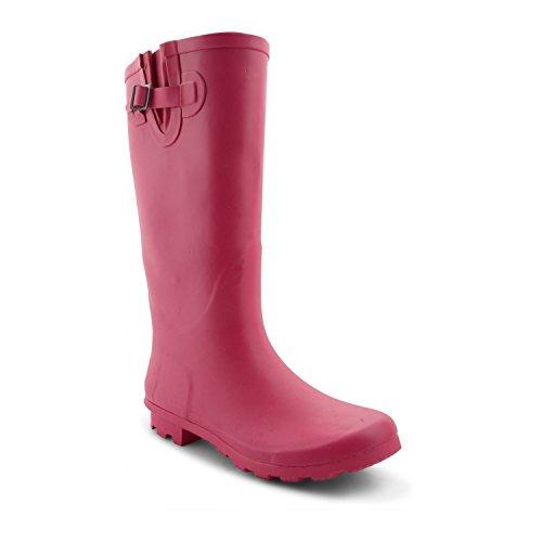 Footwear Sensation - Botas para mujer - Hot Pink Wide Fit