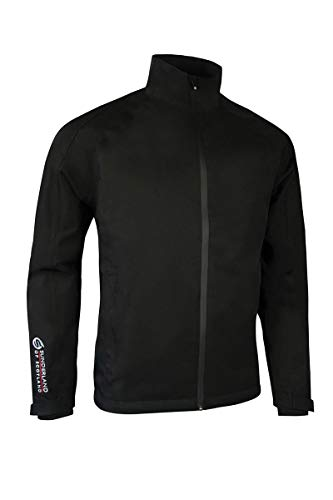 Sunderland Mens SUNMR41 Raglan Panelled Waterproof Golf Jacket Black L