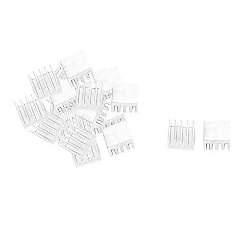 uxcell Aluminium Heatsink Cooling Fin Cooler 9mm x 9mm x 5mm 30 Pcs Silver Tone