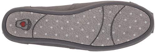 Skechers dark Bobs Para Gris Alpargata Love Plush Mujer amp; Grey Dkgrey peace 1Ow1fSq