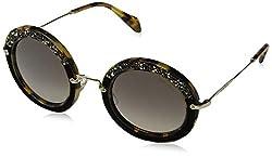 Women's Round Satin Sunglasses