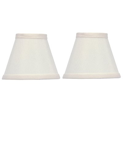 Upgradelights 5 Inch Set of 2 White Silk Type Chandelier Lamp Shade Clips Onto Bulb 2.5x5x4 (Silk Lamp White Pendant)